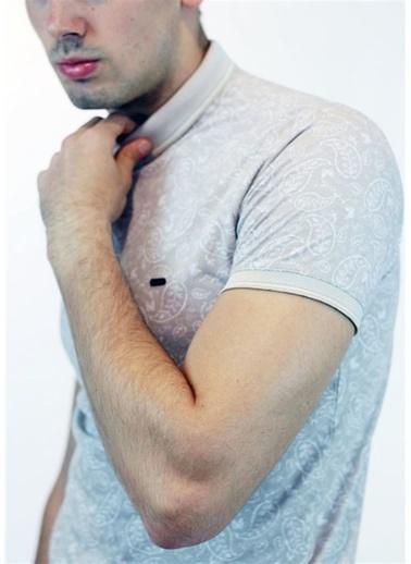 Rodrigo Erkek Gri Desenli Polo Yaka T-shirt Bej
